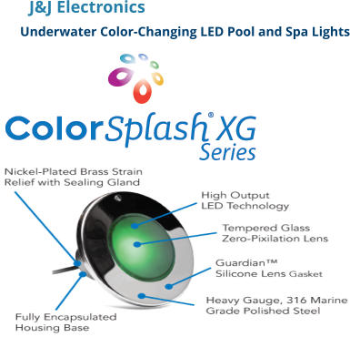 J&J Electronics Underwater Color-Changing LED Pool and Spa Lights